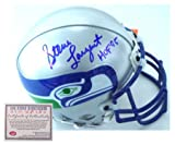 Steve Largent Seattle Seahawks NFL Hand Signed Full Size Replica Deluxe Football Helmet with HOF 95 Inscription at Amazon.com