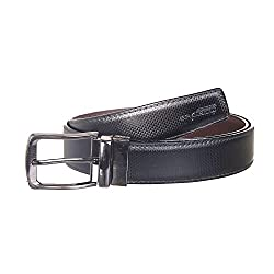 Spairow Mens reversible Black leather Belt (PBL-04)