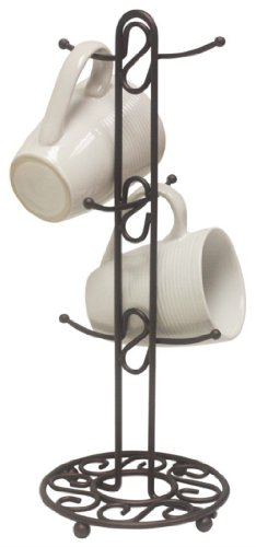 Home-It Brown Mug Tree Holder For Six Cups