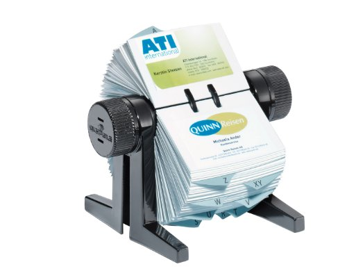Durable Visifix 2447/01 Cubo Business Card Index/Rotary/Holder - Black