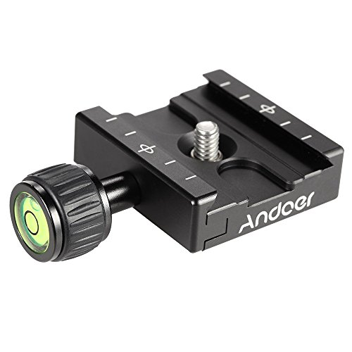 Andoer Adapter Plate Square Clamp with Gradienter for Quick Release Plate for Tripod Ball Head Arca Swiss RRS Wimberley (Ball Head Arca Swiss compare prices)