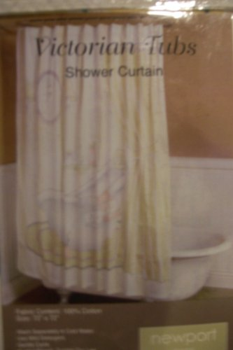 Victorian Tubs Fabric Shower Curtain
