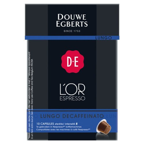 Find Douwe Egberts L'OR Espresso Lungo Decaffeinato, 10 capsules, Nespresso compatible from Douwe Egberts
