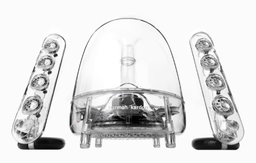 HarmanKardon-Soundsticks-III-LED-Desktop-Soundsystem-Lautsprechersystem-mit-Zwei-Sticks-Satellitenlautsprechern-und-Aktivem-Subwoofer-fr-Gerte-mit-35mm-Aux-Kompatibilitt-Transparent