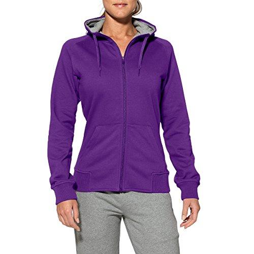 Maglia da donna Asics felpa con cappuccio e Zip Pullover/122867-0276 Maglione da donna sport corsa pull over lilla