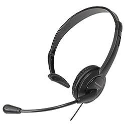 Panasonic RP-TCA400E-K Head Phone with Built-in Microphone (Black)