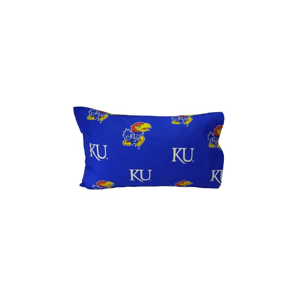 4112d02cd9a11 NCAA Kansas Jayhawks Royal Blue King Pillow Case on PopScreen