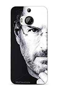 MiiCreations 3D Printed Back Cover for HTC One M9+ Plus,Steve Jobs