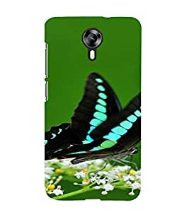 PrintVisa Butterfly Design 3D Hard Polycarbonate Designer Back Case Cover for Micromax Canvas Express 2 E313