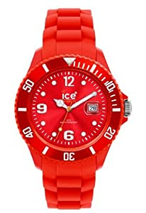 ICE-Watch - Montre Mixte - Quartz Analogique - Ice-Forever - Red - Unisex - Cadran Rouge - Bracelet Silicone Rouge - SI.RD.U.S.09