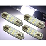 6連 LEDルームランプホワイト4個 T10X31mm SMD