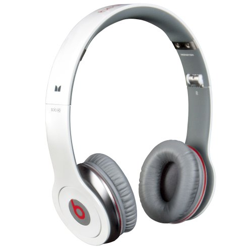 Monster Beats Solo High-Def On-Ear Headphones with ControlTalk (White)