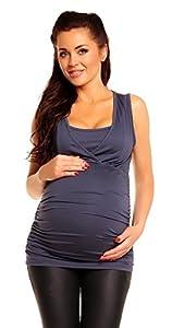 Zeta Ville - Mujeres Maternidad Enfermería Envolver Frente Camiseta M-3xl - 371c