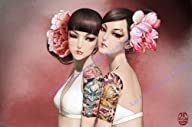 Anime Manga Hot Asian Girl Tattoo Art…