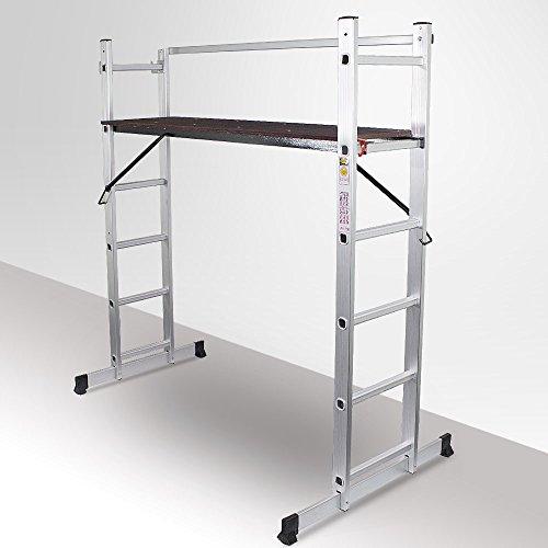 BITUXX-3in1-universal-Aluminium-Multifunktionsgerst-ALU-Multigerst-Alugerst-Aluminium-Gerst-Bockleiter-Stehleiter-Anlegeleiter