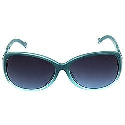 Eyeland Non-Polarized Oval Sunglasses (Brown, EYE180)