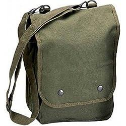 Map Case Shoulder Bag-Olive Green