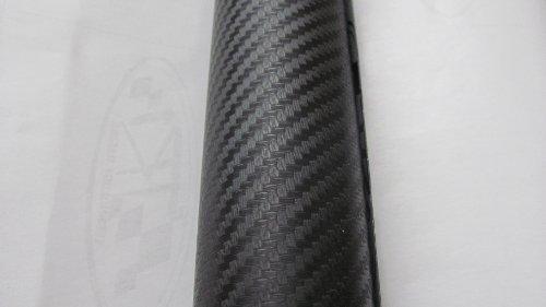 TCBunny Black 3D Carbon Fiber Hood Roof Trunk Vinyl Film Wrap - 60