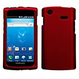 Red Rubberized Hard Case for Samsung Captivate i897 (Galaxy S) AT&T