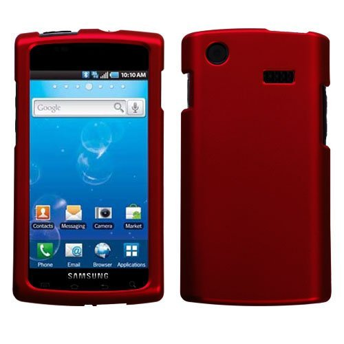 Red Rubberized Hard Case for Samsung Captivate i897 (Galaxy S) AT&T (Samsung I897 Case compare prices)