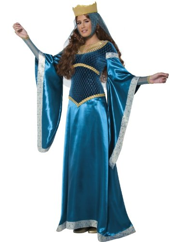 Smiffys Women's Blue/Gold Tales Of Old England Maid Marion Costume -US Dress 10-12