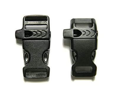 "8 - 5/8"" & 1/2"" Whistle Buckles (4 Each) For Paracord Bracelets"