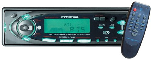 Pyramid - AM/FM-MPX Cassette Player w/Flip Down Detachable Face - 2048DFX
