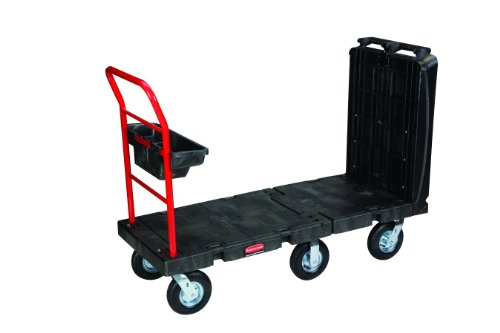 Rubbermaid Commercial FG449700 Convertible Platform Truck, 2000 lbs Capacity, 52