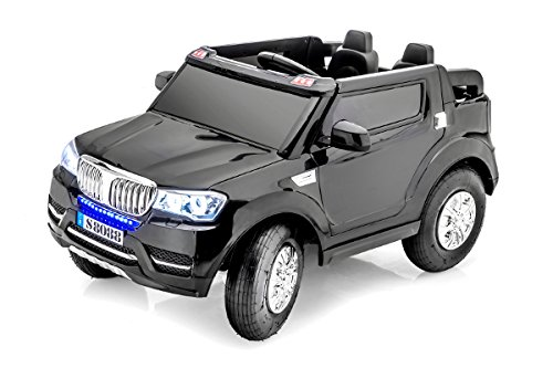 stunning 2 seater bmw jeep style 12v battery operated ride on car with remote control black little kid cars