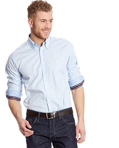 Polo Club Camisa Hombre Fitted Escudo Azul