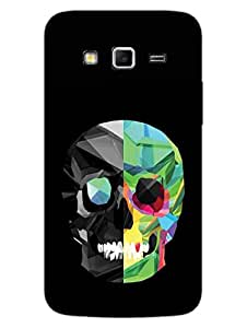 Skull - Colorful - Hard Back Case Cover for Samsung Grand 2 - Superior Matte Finish - HD Printed Cases and Covers