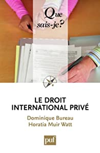 Le droit international privé par Dominique Bureau