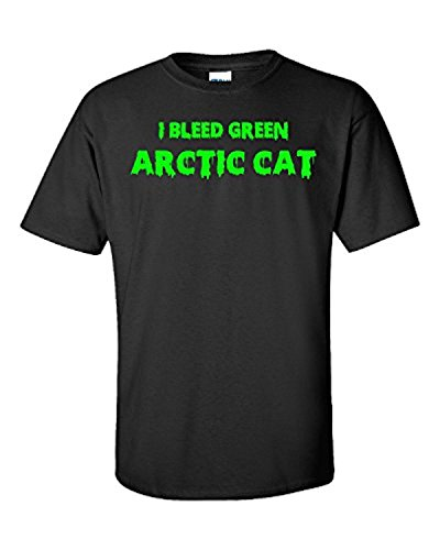 JJlinge I Bleed Green Arctic Cat Snowmobile - Unisex Tshirt Black X-Large (Arctic Cat Snowmobile Clothing compare prices)