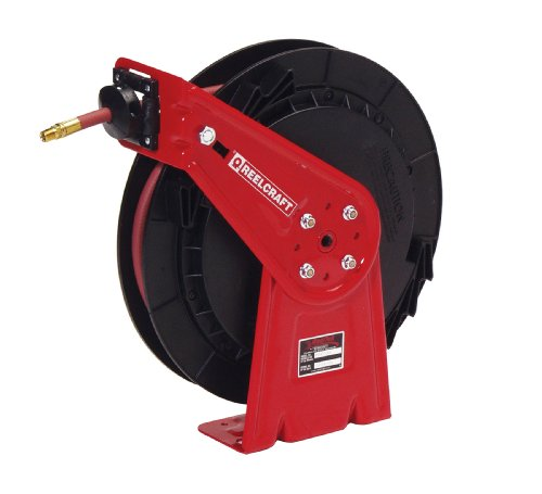 Reelcraft RT435-OHP 1/4-Inch by 35-Feet Spring Driven Hose Reel for Grease