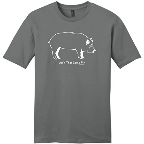 Ain'T That Some Pit Funny Bbq Barbeque Young Mens T-Shirt Large Grey