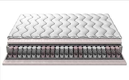 """Molle insacchettate materasso in lattice quelli Posh tasca materasso a molle con doppio strato di lattice 18cm a 3 strati trapuntato """"Luna"""" 160x200 cm"""