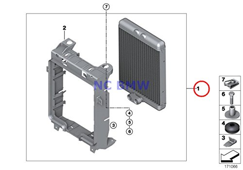 BMW Genuine Radiator Engine Cooling Oil Cooler X5 M X6 M (Engine Oil Cooling Bmw X5 compare prices)