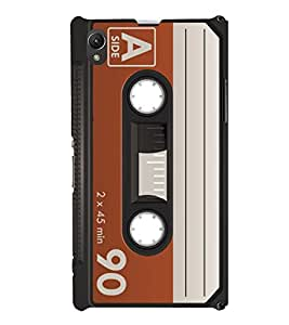 90 Minutes Cassette Cute Fashion 3D Hard Polycarbonate Designer Back Case Cover for Sony Xperia Z1 :: Sony Xperia Z1 Honami :: Sony Xperia Z1 C6902/L39h :: Sony Xperia Z1 C6903 :: Sony Xperia Z1 C6906 :: Sony Xperia Z1 C6943