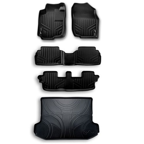 Gray Set and Cargo Liner Bundle for Odyssey 3 Row All Weather Floor Mats Set