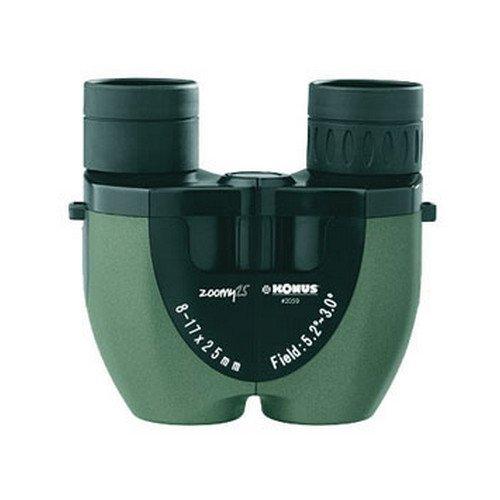 Zoom Binocular- 8-17X25- Green Pvc