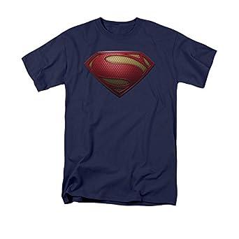 DC Comics Superman Man Of Steel Logo T-Shirt Size : X-Small