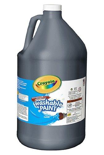 Washable Paint Gallon Black -- Case of 2