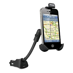 iSound USB Power Mount for iPhone, Android, BlackBerry and Smartphones (Black)