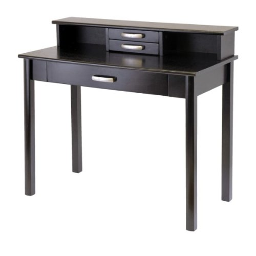 Buy Low Price Comfortable Liso 2Pc Home Office Set, Computer Desk With Hutch By Winsome Wood (B0056B0FKS)