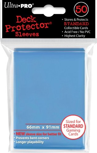 Ultra Pro Deck Protector Sleeves: Standard Size: Light Blue (82677) - 1