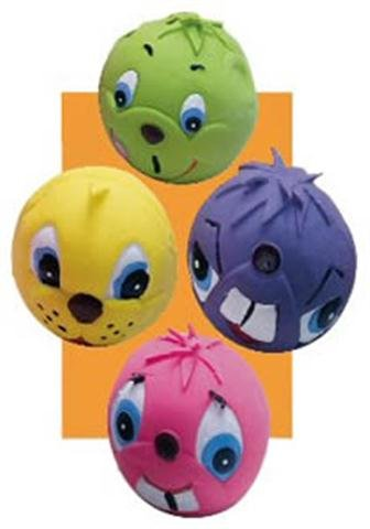 Pet Supply Imports Small Latex Squeaker Dog Toy -Assorted Faces and Colors