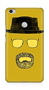 Amez designer printed 3d premium high quality back case cover for Xiaomi Mi Max (Cap Mustache)