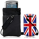 41UjYCZD7sL. SL160  BLACKBERRY TORCH 9800 4 PC LUXURY GIFT ACCESSORY PACK   UNION JACK BACK COVER CASE / SHELL / SHIELD, SCREEN PROTECTOR, POUCH CASE, CAR CHARGER PART OF THE QUBITS ACCESSORIES RANGE