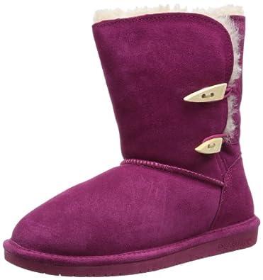 BEARPAW Women's Abigail Boot,Pom Berry,6 M US