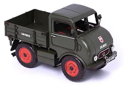 Model Car Unimog, green - Retro Tin Model